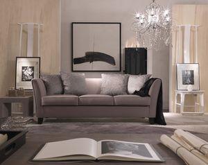 Genny, Sofá elegante en un estilo clásico contemporáneo