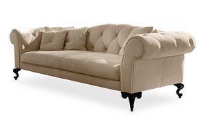 George sofá, Sofá acolchado tapizado en estilo clásico