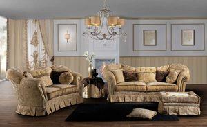 IMPERIALE, Impresionante sofá, con un diseño clásico