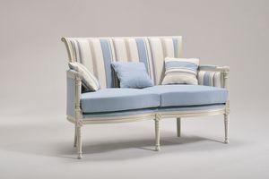 KELLY LARGE sofá 8042L, Sofá de estilo clásico, en madera de haya, para uso residencial