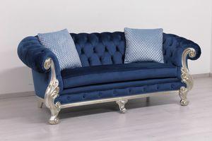 Manchester cuero 2 plazas, Sofá clásico de lujo, con relleno acolchado