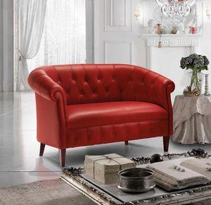 MARGOTT, Sofá de estilo inglés, con relleno de capitonné