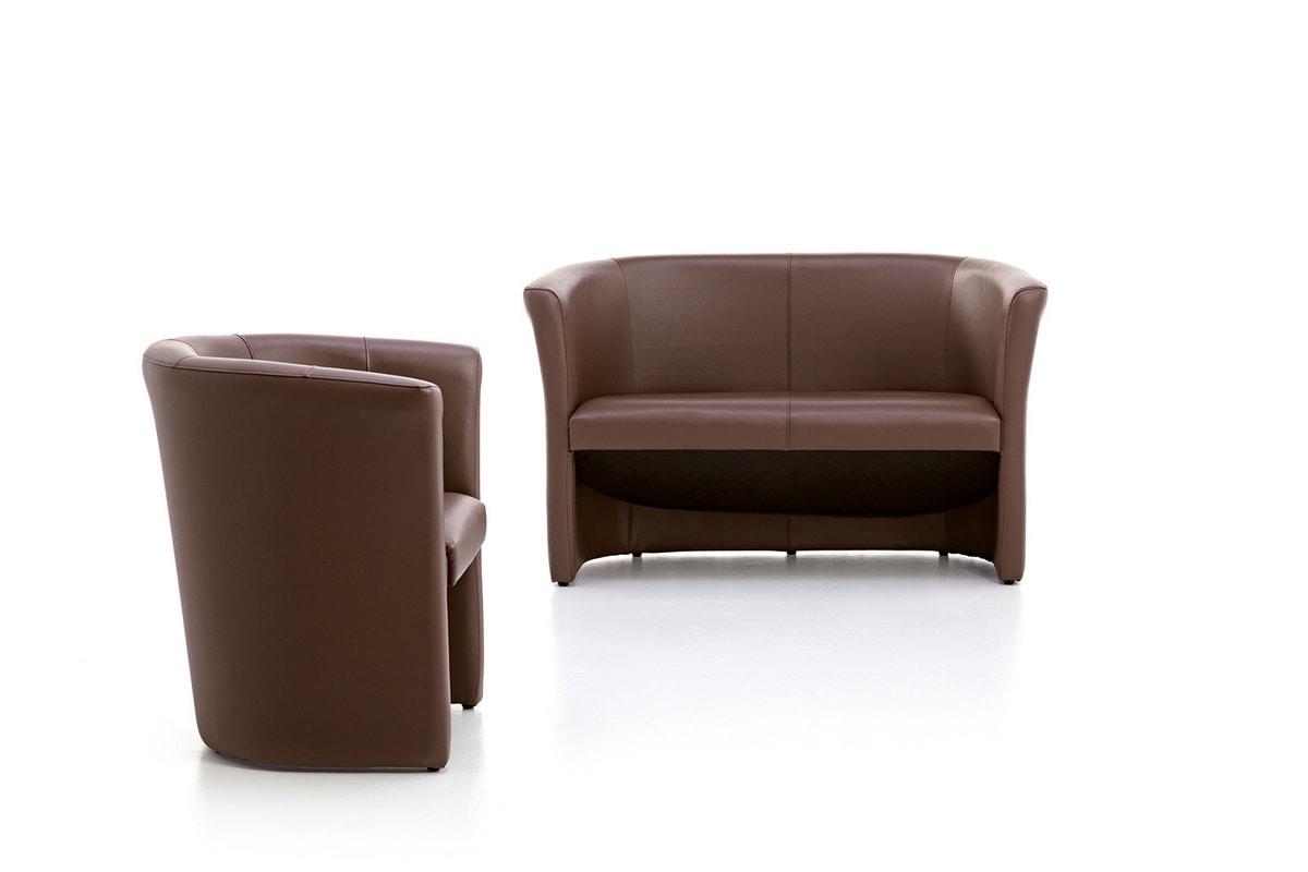Tube 02, 2 plazas sofá, tapizado con espuma de poliuretano