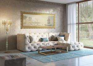Venere sofá, Sofá modular, con decoración capitonné.