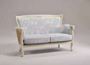 VENEZIA sofà 8294L, Sofá con acabados en pan de plata, de estilo clásico