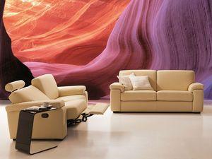 Anais, Sofá relajante, cómodo, inclinación y extensión, para el estudio