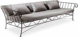 Bahamas new sofá, Sofá de 3 plazas, estructura metálica, de moderna sala de estar