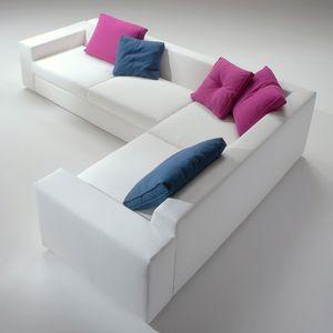 Beverly, Sofá modular desmontable, acolchado de poliuretano