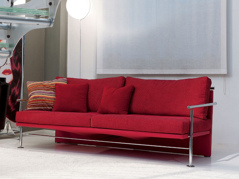 Block, Elegante sofá con hierro marco visible, para la oficina
