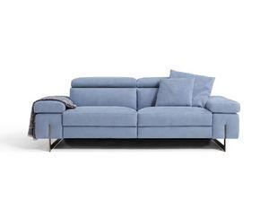 Candice, Sofá con cómodos reposacabezas reclinables