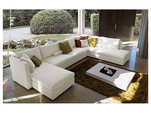 Company corner, Sofá modular, cubierta totalmente extraíble, diseño moderno