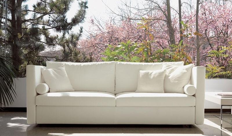 Company, Cómodo sofá, para salones elegantes, con tapicería de tela extraíble