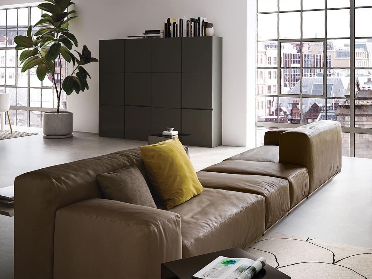 Delano, Sofá moderno con 2 niveles de espalda