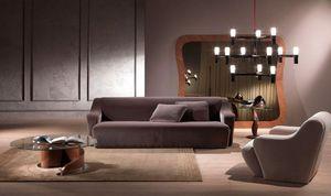 DI18 Morfeo sofá, Sofá modular moderno, tapizado con poliuretano