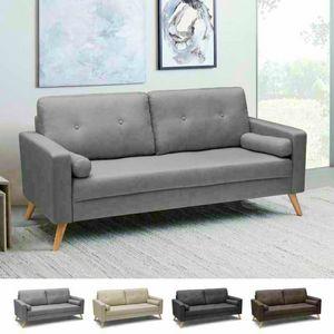 Divano Design Moderno Stile Scandinavo In Tessuto 3 Posti Per Salotto E Cucina ACQUAMARINA - DI8092MIGC, Sofá de estilo escandinavo con asiento grande