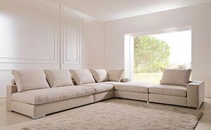 Domino, Sofá desmontable y modular, para el estudio y sala de estar
