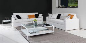 Dry, Sofá moderno, apoyabrazos en pluma de oca, para oficinas