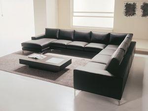 Fenix, Sofá, lineal, de diseño moderno y ligero a medida