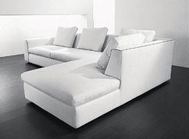 Free corner, Sofá de la esquina de fibras de madera, acrílicas y de poliuretano
