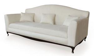 Ghirigori divano, Sofá de madera, forrado con goma, patas de hierro