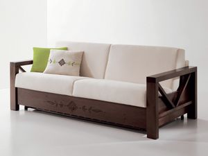 Hollywood personalizada 01, Cómodo sofá con marco de madera personalizable