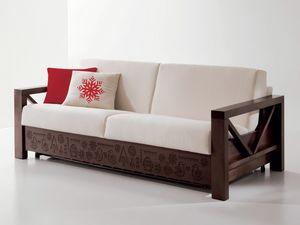 Hollywood personalizado 02, Sofá especial en madera con tallas personalizadas