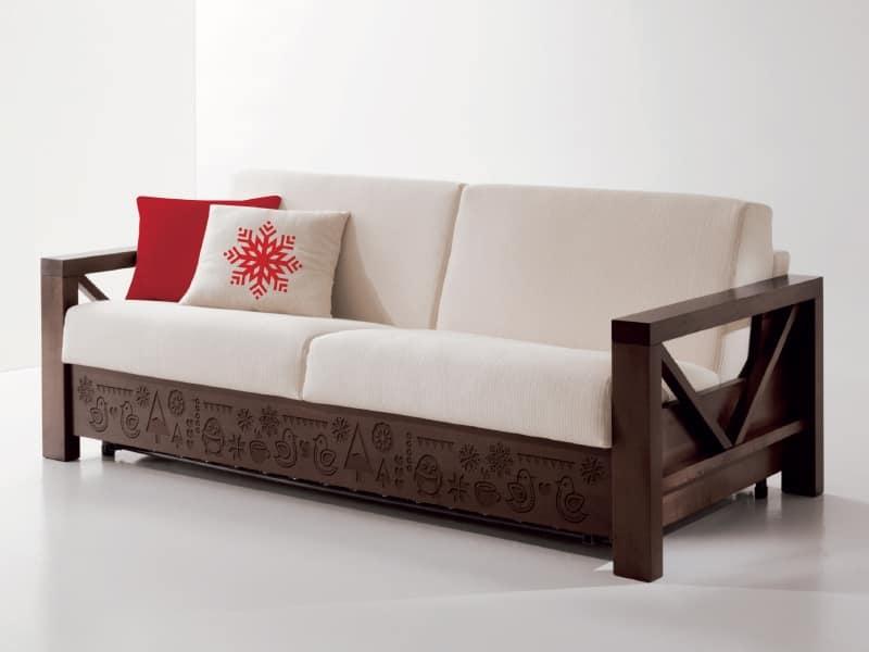 Sofa Especial En Madera Con Tallas Personalizadas Idfdesign - Sofas-de-madera