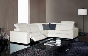 Kline, Elegante sofá, ajustable, con función de relajarse