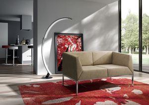 Kos sofá, Sofá con pies de metal para salas de estar modernas