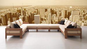 Kuba, Sofá modular minimalista, estilo moderno, de taberna