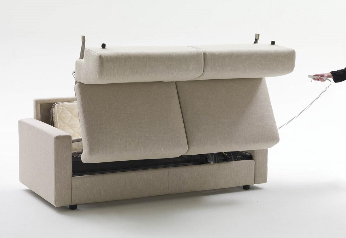 Lampo, Sofá cama con reposabrazos personalizables