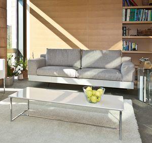 Lario, Sofá moderno con base lacada o cuero