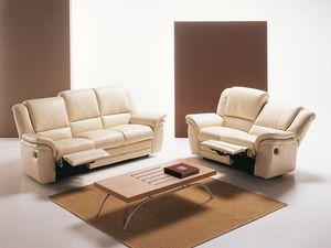 Lincoln, Sofá ergonómica y cómoda, con asiento basculante