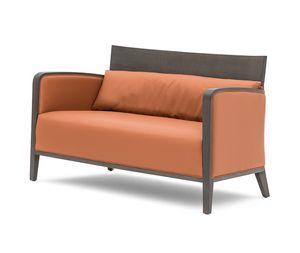 Logica 00952, Sofá de madera maciza para relajarse y áreas de espera