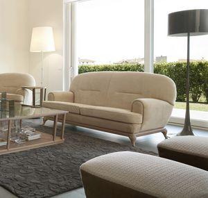 Massenet sofá, Sofá contemporáneo con líneas redondeadas