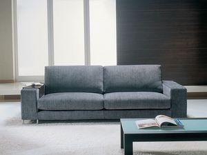 Mikonos, Sofá con tela extraíble, diseño limpio, para la oficina