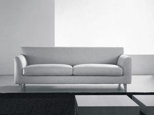 Minorca, Sofá moderno, almohadas de diferentes tamaños, para sala de estar