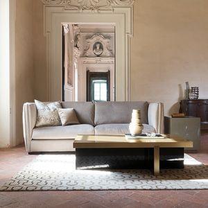 Morris sofá, Sofá moderno con tapicería de tela