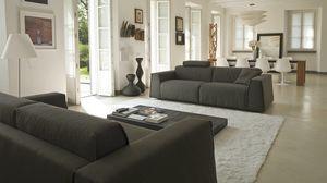 Parker, Sofá cama moderno, con tapicería extraíble.