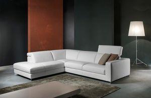 Patio, Sofá de cuero con cojines desmontables para la sala