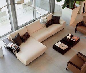 Poker corner, Sofá modular con poliuretano extraíble, para un hotel