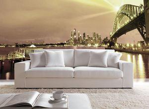 Prestige, Sofá con un diseño sencillo, con respaldo alto, para el hogar