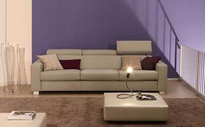 Rialto, Sofá tapizado en poliuretano cubierto de fibras acrílicas