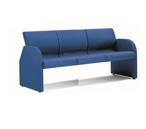 ONE 403, Mullido sofá con revestimiento ignífugo, para la oficina