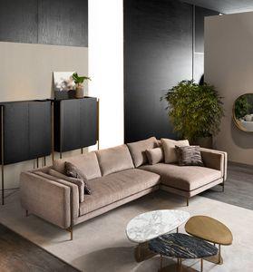 Shangai sofá de esquina, Sofá modular de diseño moderno.