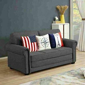 Sofá confeccionado en tejido de cama con cojines incorporados SUEÑOS DULCES, Sofá cama de tela