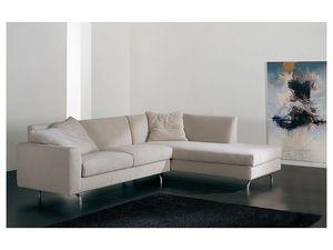 Step corner, Sofá de la esquina con chaise longue, tapizados, diferentes acabados