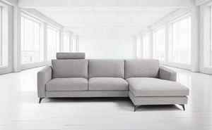 Stromboli, Sofá moderno con pies de acero.