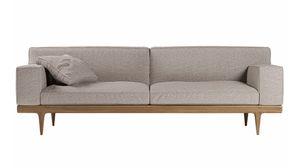 Sunday sofá, Elegante sofá con base en nogal Canaletto