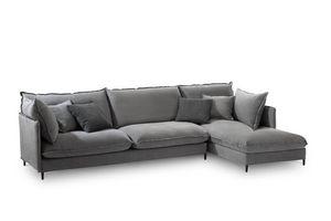 Tango Easy, Sofá de la esquina moderno, estructura de madera, para salas de estar